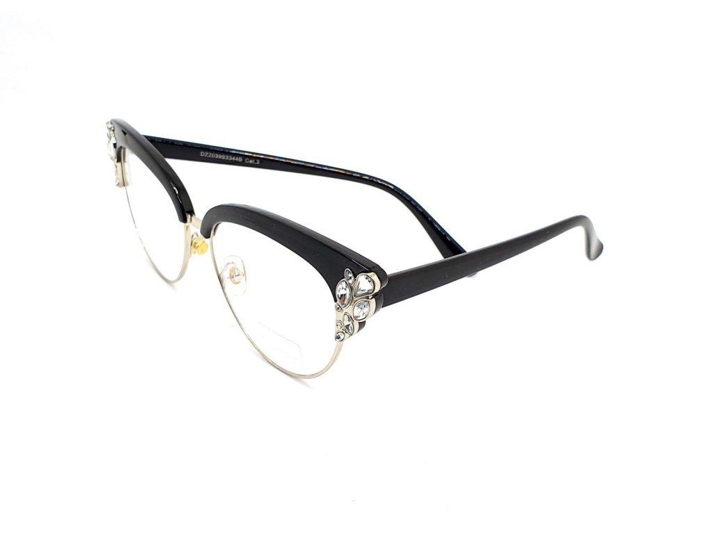 Brýle na okrasu či ochranu s UV 400 black