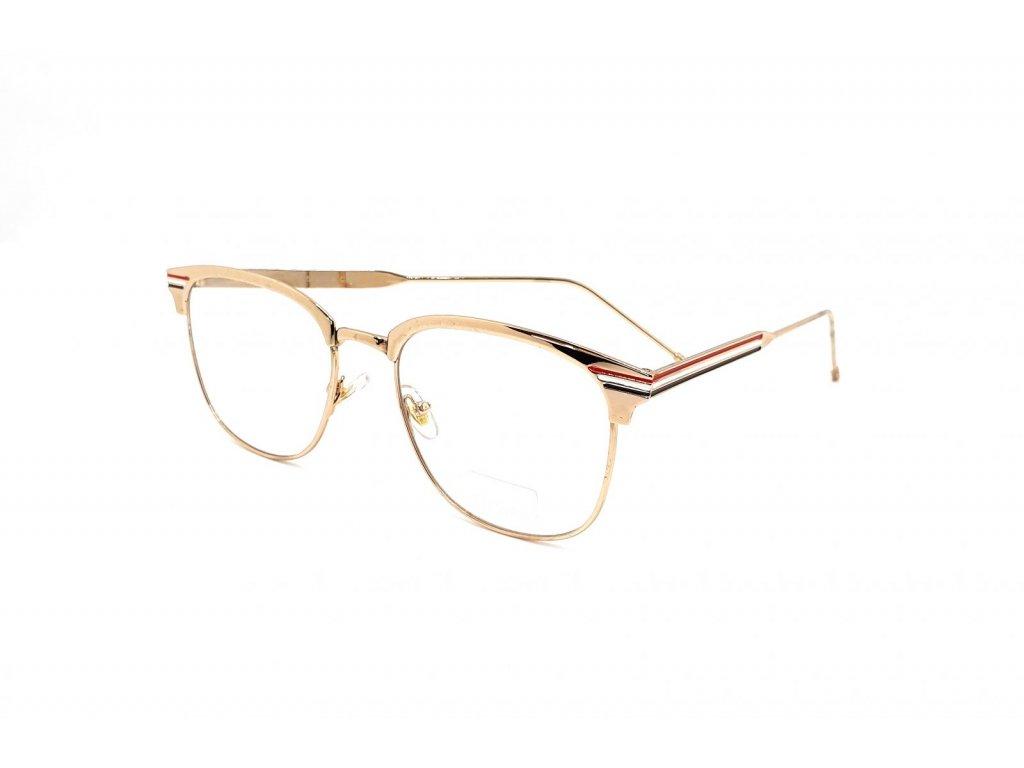 Brýle na okrasu či ochranu s UV 400 Gold