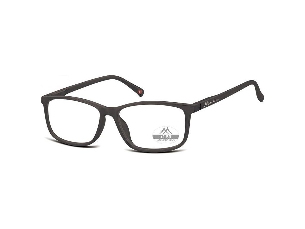 MONTANA EYEWEAR Dioptrické brýle MR62H Black/ +3,50