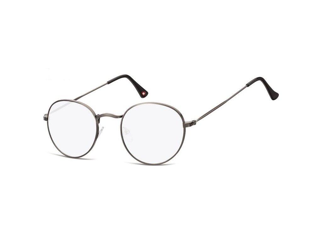 MONTANA EYEWEAR Brýle na počítač HBLF54 /+2,50 kovová obroučka