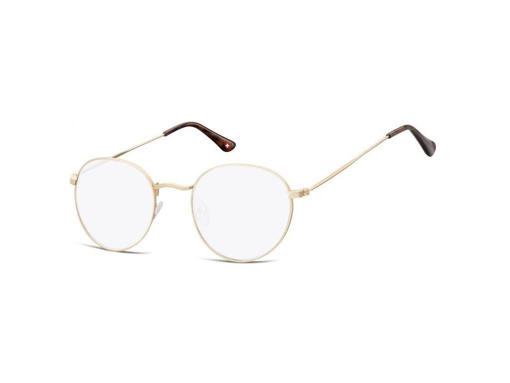 MONTANA EYEWEAR Brýle na počítač HBLF54A /+1,00 kovová obroučka
