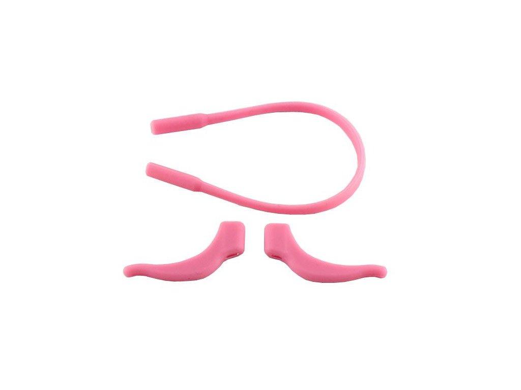 Protiskluzové silikonové nástavce na brýle růžové