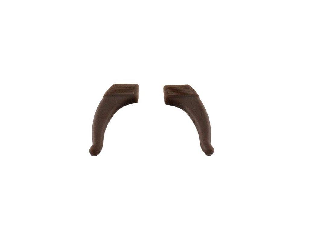 Protiskluzové silikonové nástavce (fixator) na brýle 2ks hnědé