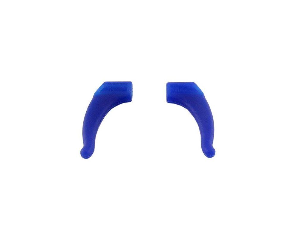 Protiskluzové silikonové nástavce (fixator) na brýle 2ks modré