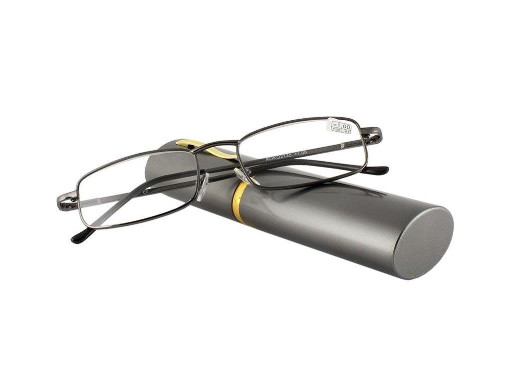 Dioptrické brýle v pouzdru KOKO 2135/ +3,75 grey