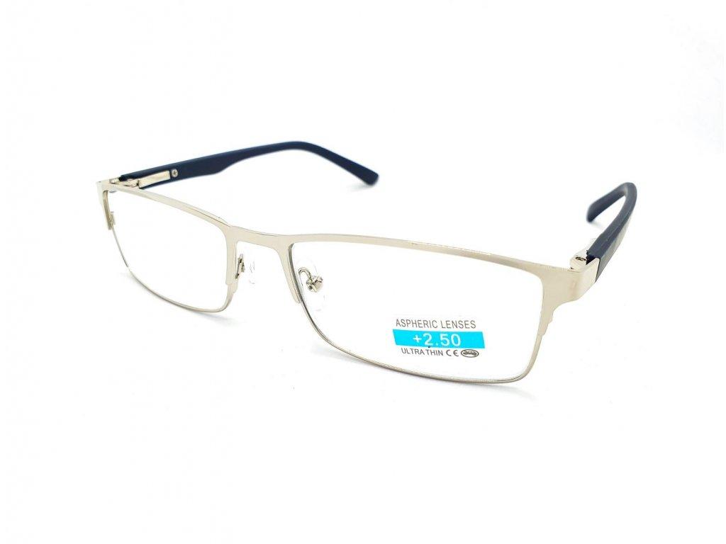 Dioptrické brýle M1.04 / +1,5 s flexem silver
