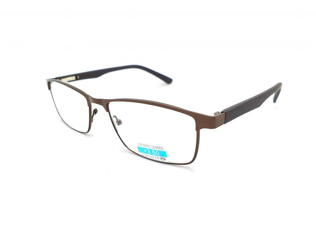 Dioptrické brýle M1.04 / +1,50 s flexem brown