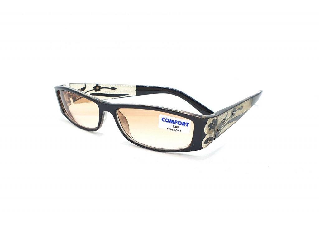 Dioptrické brýle Comfort 527/ -1,00 zabarvené čočky black