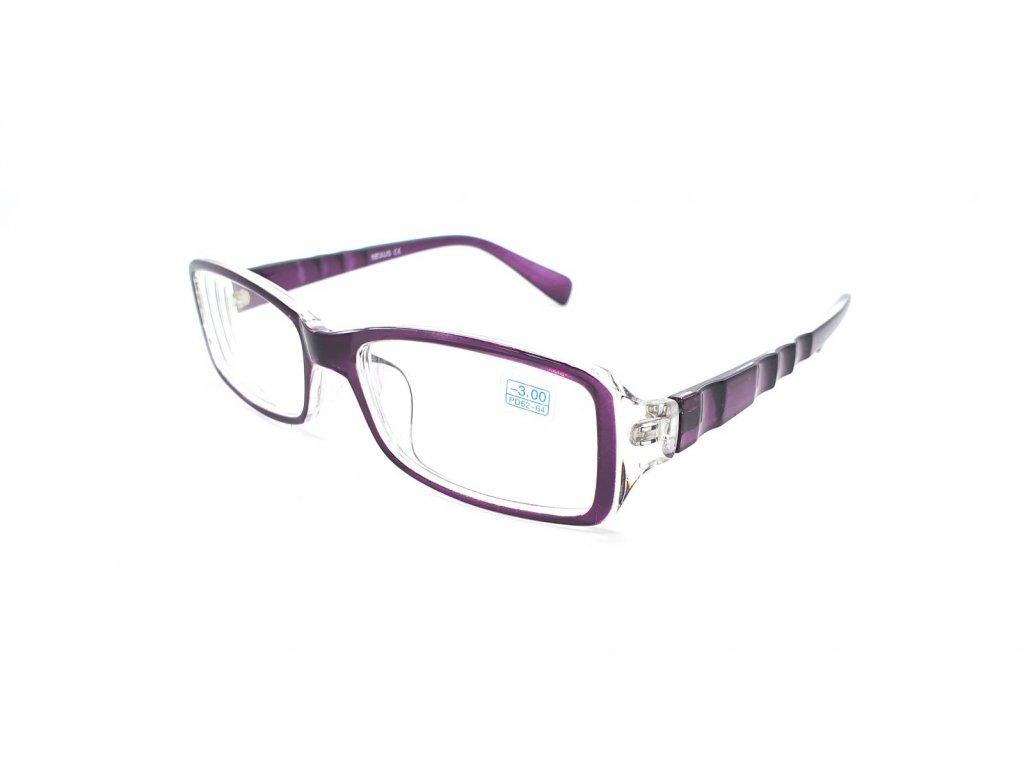 Dioptrické brýle 283 / -3,00 violet