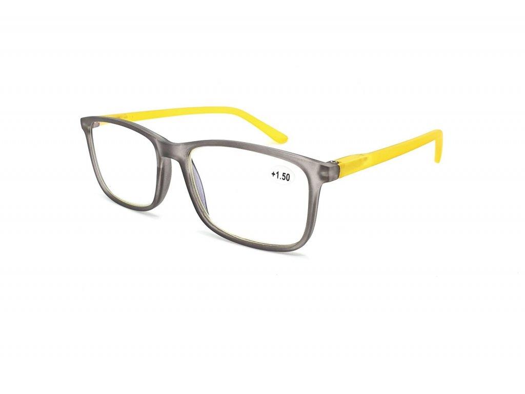 Brýle na počítač IDENTITY MC2172B /+4,00 grey/yellow