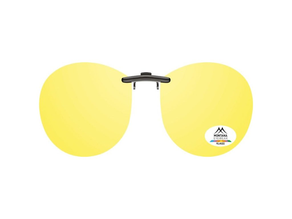 MONTANA EYEWEAR Polarizační KLIP NA BRÝLE C14C se žlutou čočkou na noční vidění pro řidiče