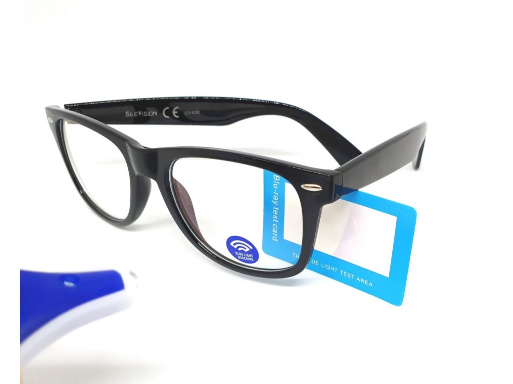 SeeVision Brýle na počítač BOX LG0802+tester proti modrému světlu