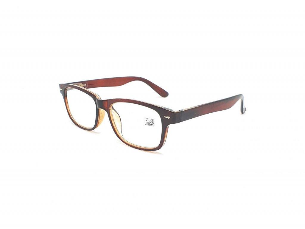 Dioptrické brýle BF19079 / +2,25 hnědé flex
