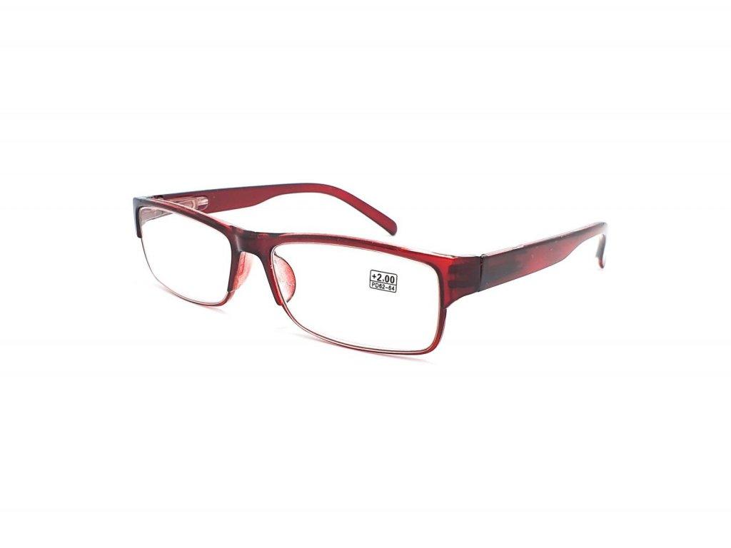 Dioptrické brýle 5016 / +2,00 vínové flex