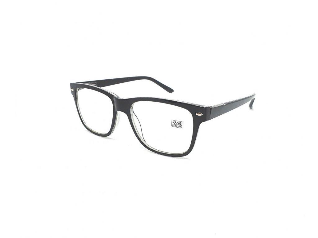 Dioptrické brýle 2074 / +2,00 černé flex