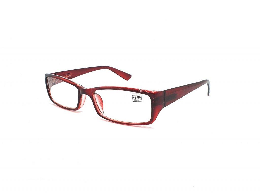 Dioptrické brýle 5003 / +2,00 vínové flex