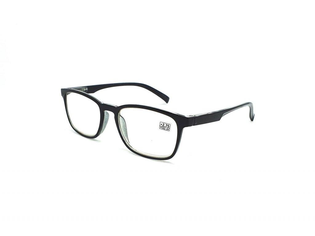 Dioptrické brýle 6339 / +1,75 černé flex