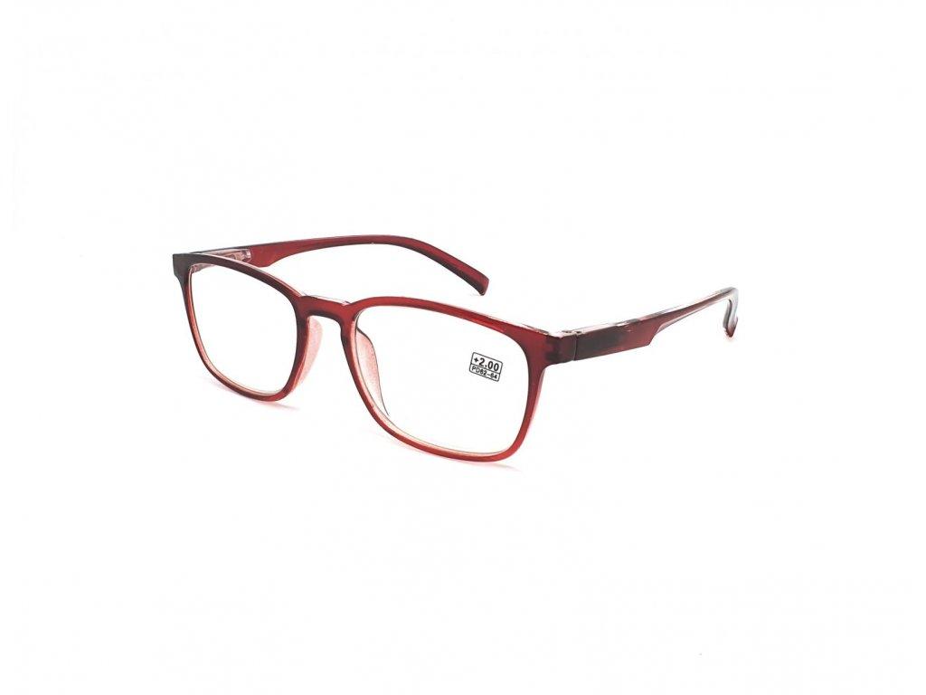 Dioptrické brýle 6339 / +1,50 vínové flex