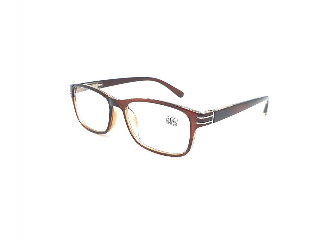 Dioptrické brýle 5005 / +2,50 s flexem brown