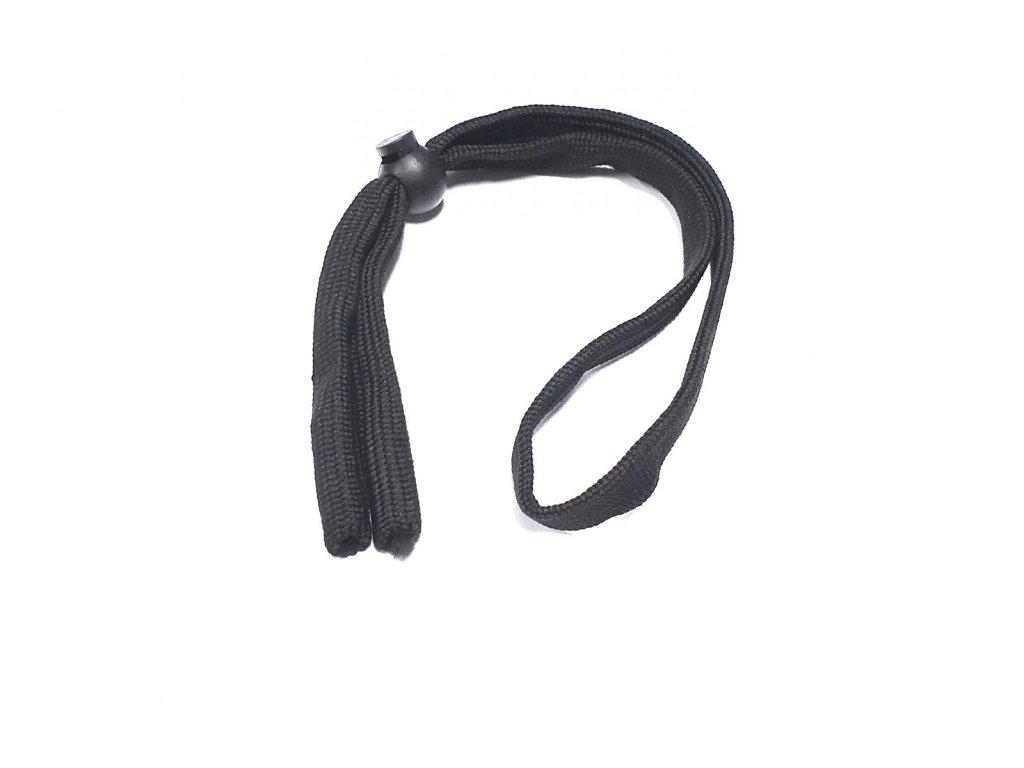 Pevná stahovací šňůrka na brýle - černá