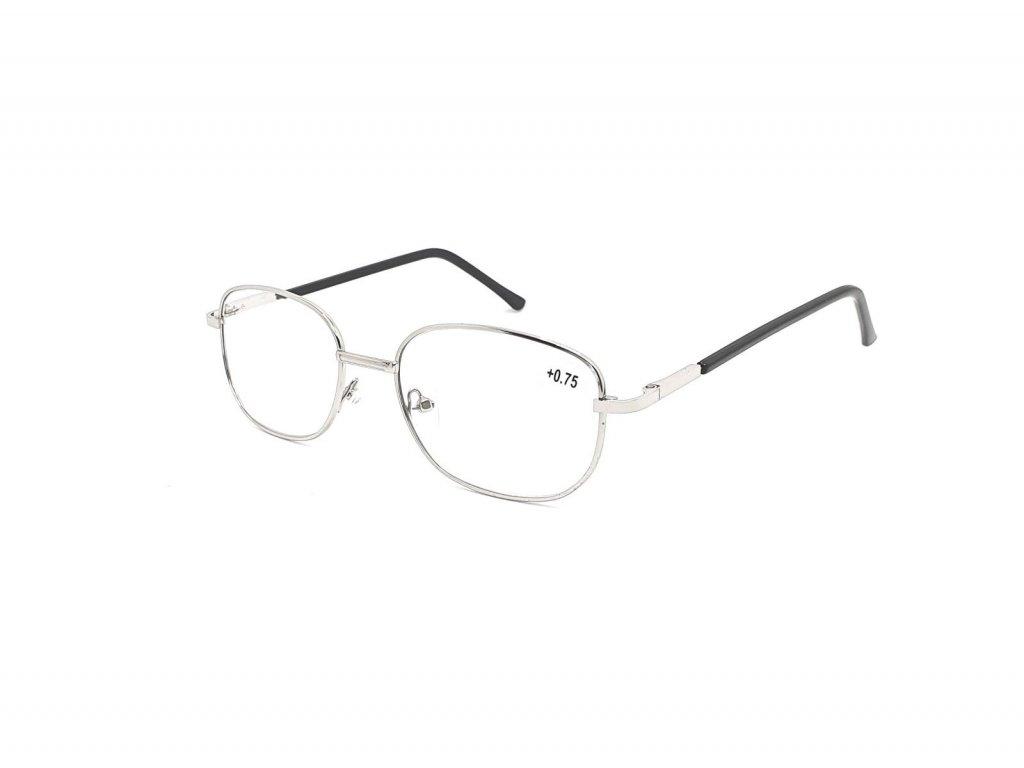 Dioptrické brýle 804/ +2,75 s flexem silver
