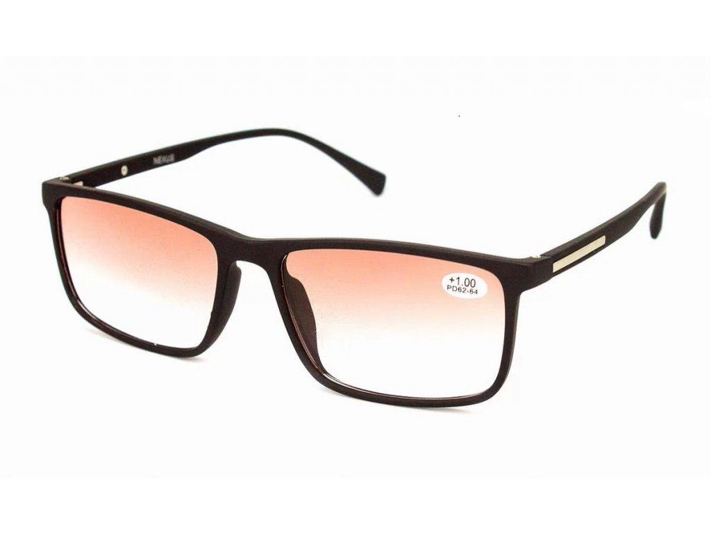 Dioptrické brýle NEXUS 19413 / -2,25 ztmavené do hnědá