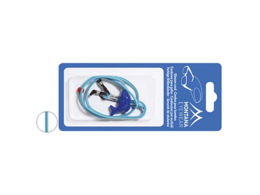 MONTANA EYEWEAR Dětská nastavitelná šňůra na brýle BC12 - modrá s delfínem