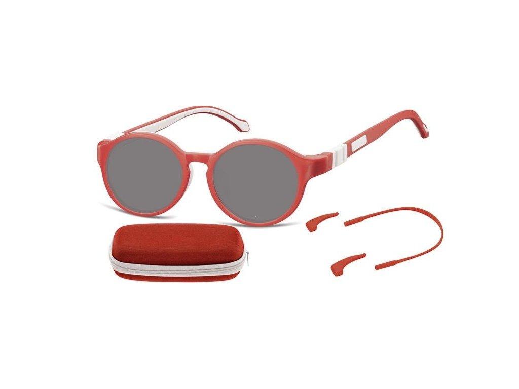 SUNOPTIC Dětské sluneční brýle (6-8let) flexibilní SK8D obroučky+ příslušenství + pouzdro
