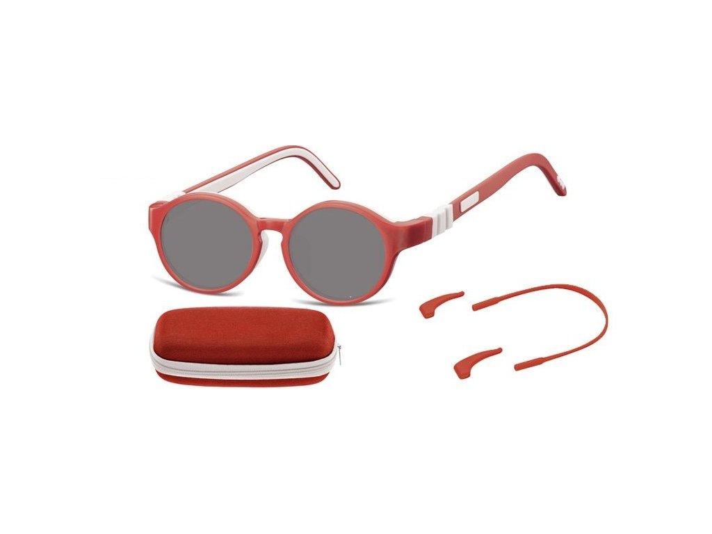 SUNOPTIC Dětské  sluneční brýle (6-8let) flexibilní SK7D obroučky+ příslušenství + pouzdro