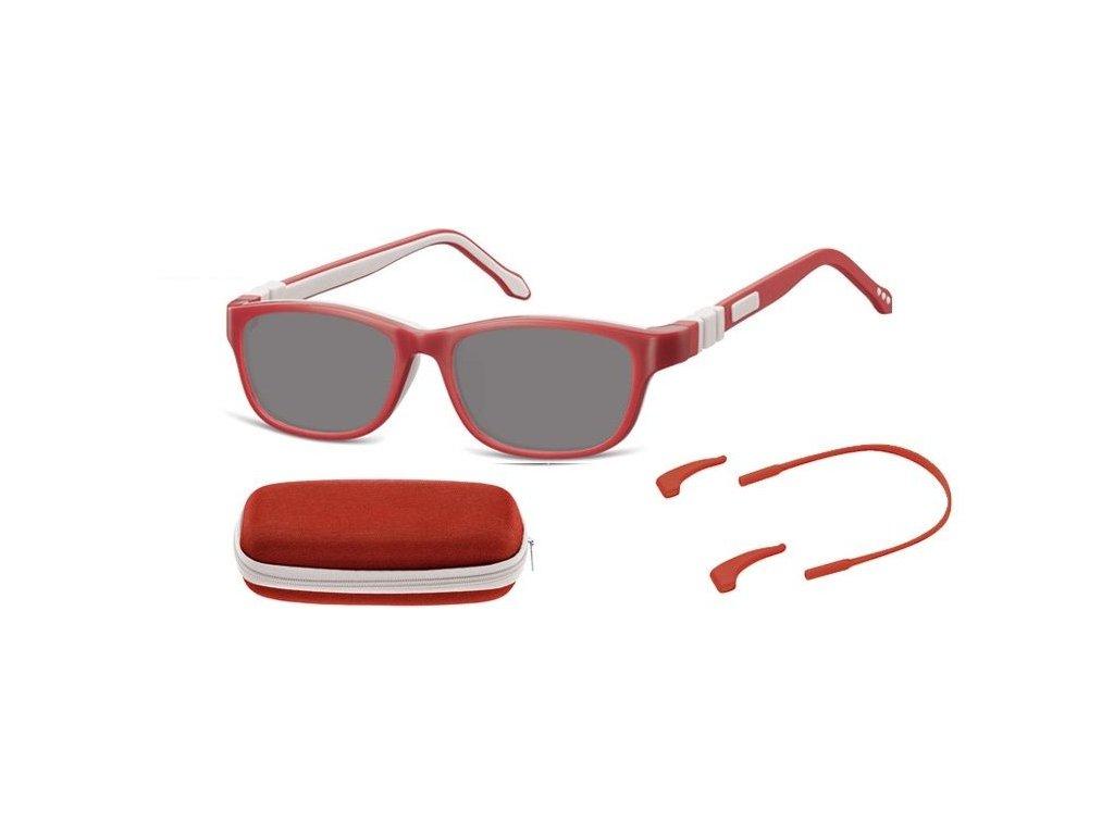 SUNOPTIC Dětské sluneční brýle (6-8let) flexibilní SK6D obroučky+ příslušenství + pouzdro