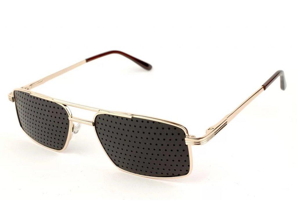 Ajurvédské brýle pro zlepšení zraku MY012 Gold