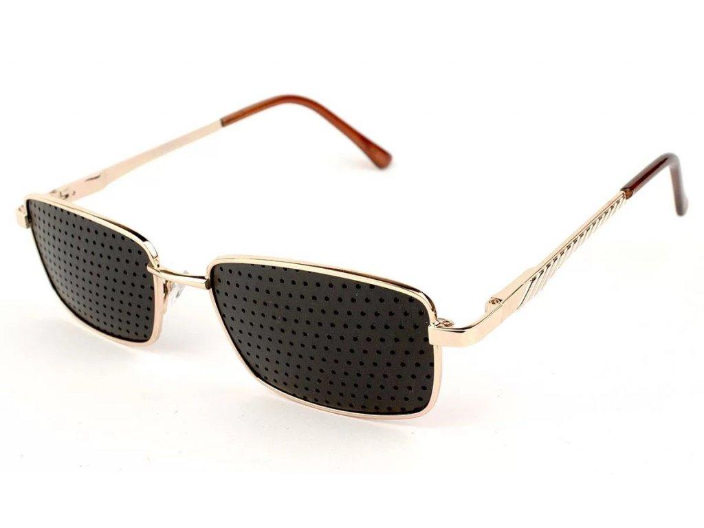 Ajurvédské brýle pro zlepšení zraku MY014 gold