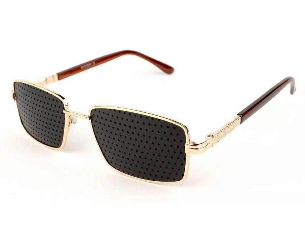 Ajurvédské brýle pro zlepšení zraku MY016 gold