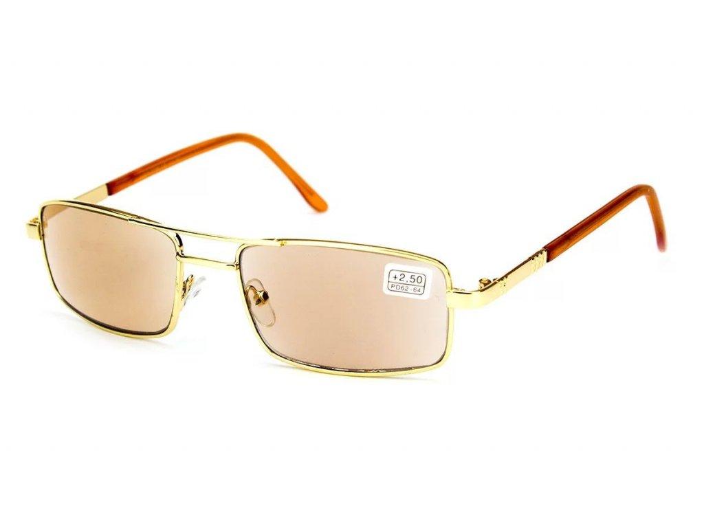 Samozabarvovací dioptrické brýle Veeton 6004 GOLD SKLO -1,00