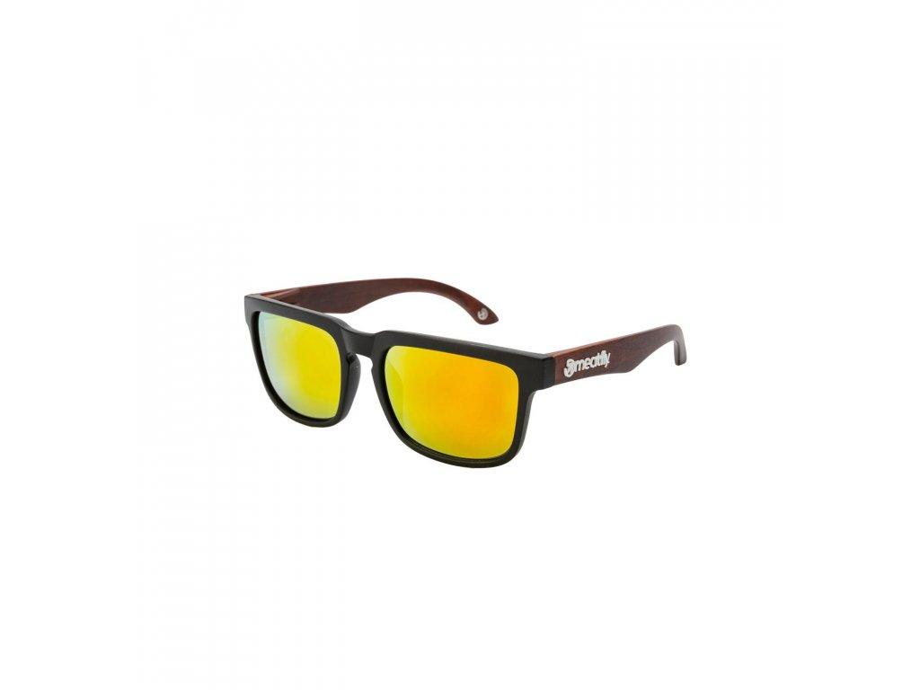 MEATFLY Sluneční brýle Meatfly Memphis, Black, Dark Wood