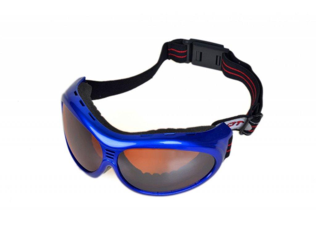 Zimní brýle na snowboard a lyžovaní PILOT modré