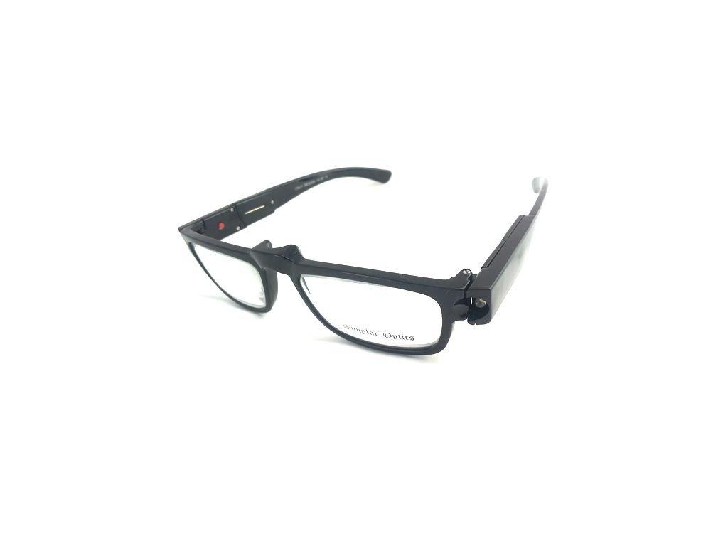 Dioptrické brýle se světýlkama +4,00 černé obruby