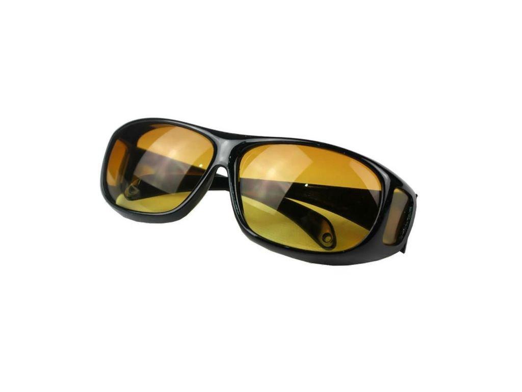 Sluneční brýle na dioptrické brýle tmavě-žlutá čočka