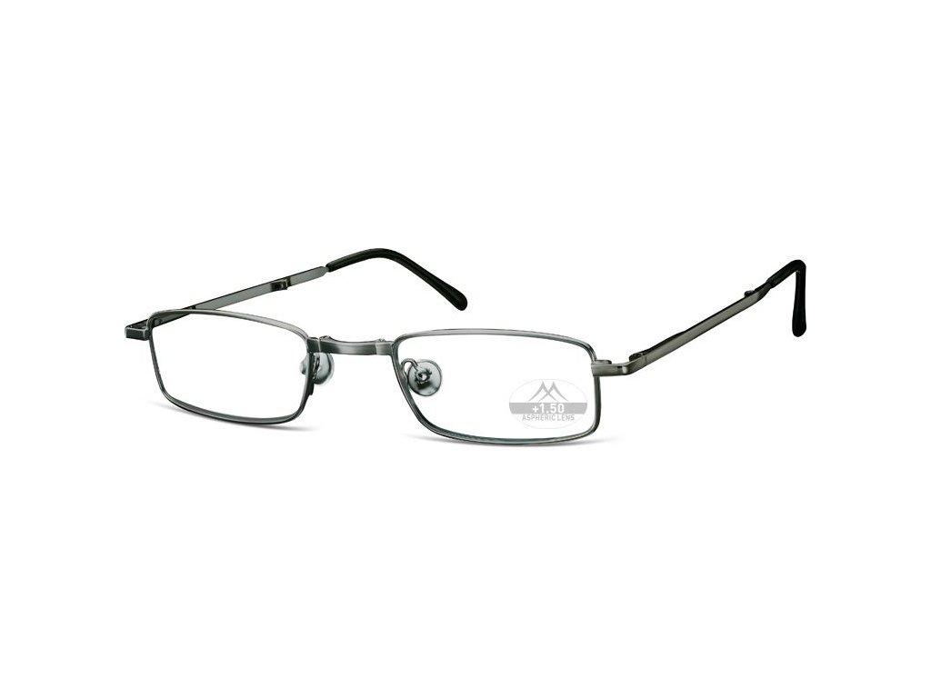 MONTANA EYEWEAR SKLÁDACÍ dioptrické brýle RF25A SILVER +2,00