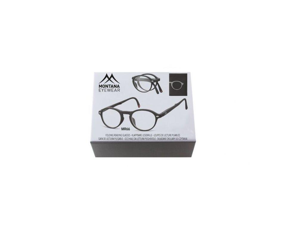 MONTANA EYEWEAR SKLÁDACÍ dioptrické brýle BOX66 BLACK+3,00