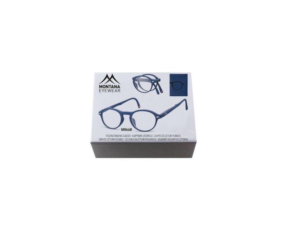 MONTANA EYEWEAR SKLÁDACÍ dioptrické brýle BOX66B BLUE +2,50