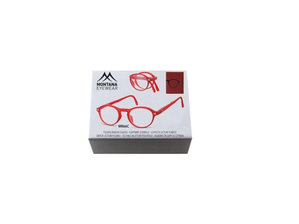 MONTANA EYEWEAR SKLÁDACÍ dioptrické brýle BOX66C RED +3,50