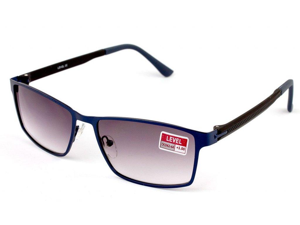 Dioptrické brýle Level F1553 / +2,00 ZATMAVENÉ ČOČKY