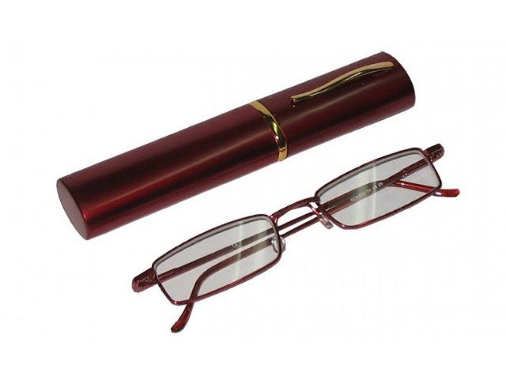 Dioptrické brýle v pouzdru Koko 2134/ +3,25 vínové