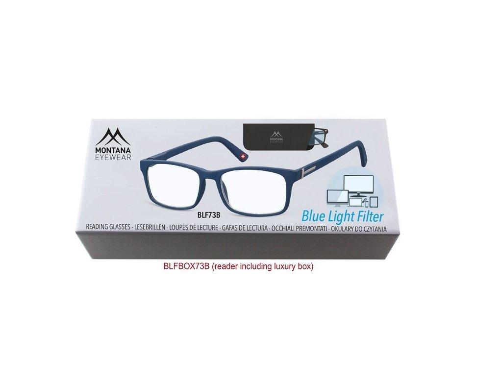 MONTANA EYEWEAR Brýle na počítač BLF BOX 73B BLUE bez dioptrií