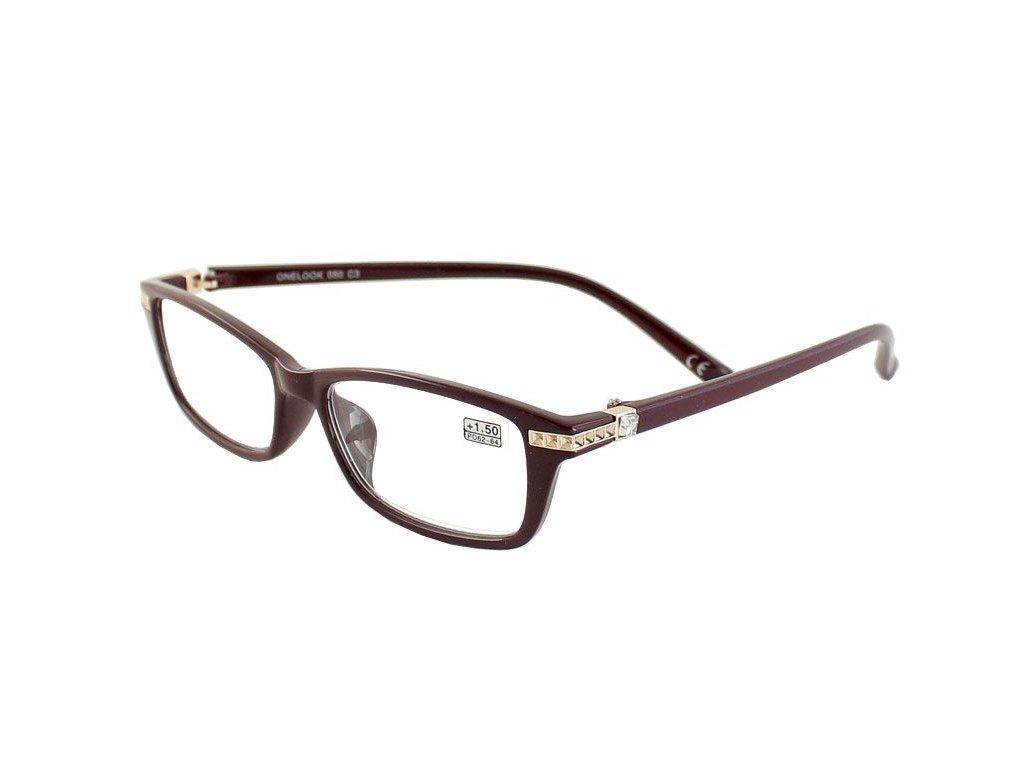 Dioptrické brýle Onelook 050/+2,00 vínová
