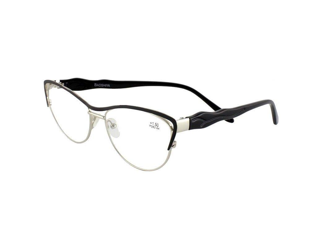 Dioptrické brýle BAOSHIYA 1149/+4,00 černá