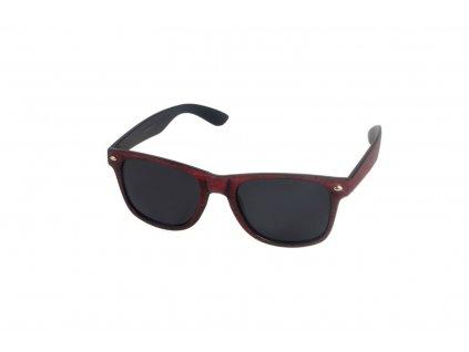 Polarizační brýle imitace dřeva P18508 červené Cat.3
