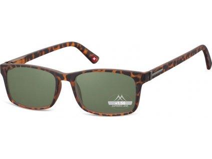 MONTANA EYEWEAR Dioptrické brýle BOX73AS BLACK+1,00 ZATMAVENÉ ČOČKY