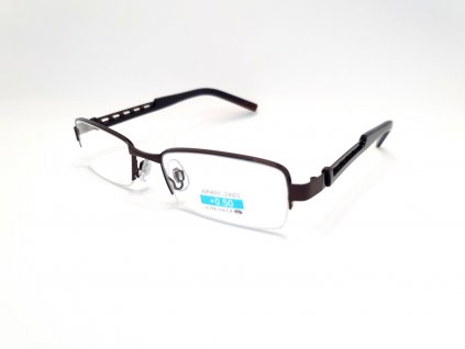 Dioptrické brýle M1.02/ +5,00 hnědý rámeček